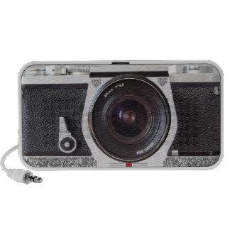 SLR-kameran med rullan verkställer den bärbara hög