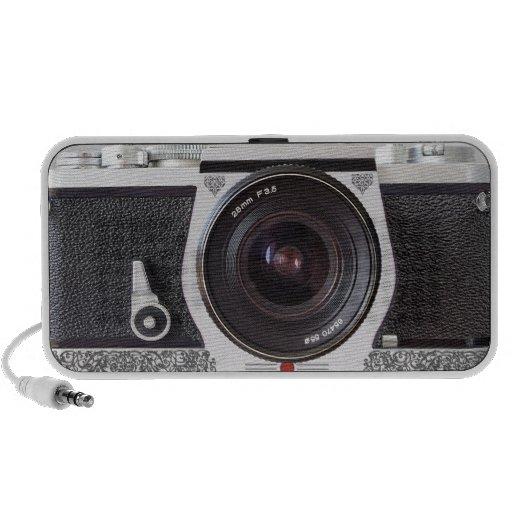 SLR-kameran med rullan verkställer den bärbara hög Bärbarahögtalare