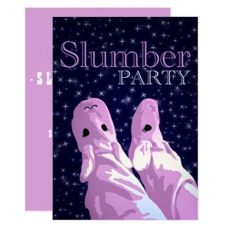 slummerpartynightshine 12,7 x 17,8 cm inbjudningskort