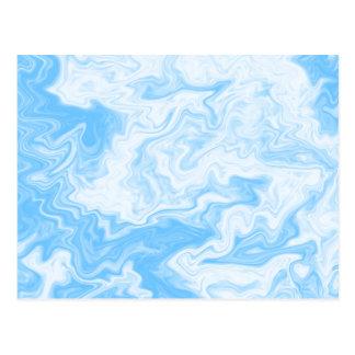Slumpmässig design för pastellfärgade blått vykort