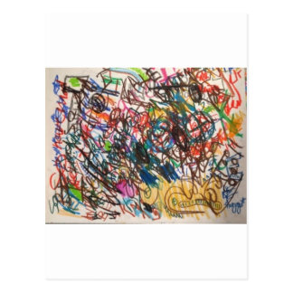 Slumpmässig konst vykort