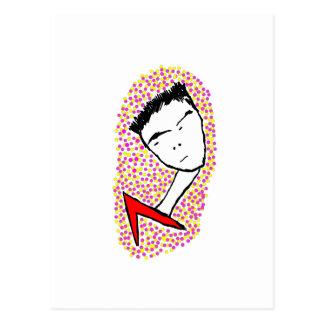 Slumpmässig pojke vykort
