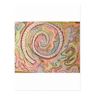 Slumpmässig spiral vykort