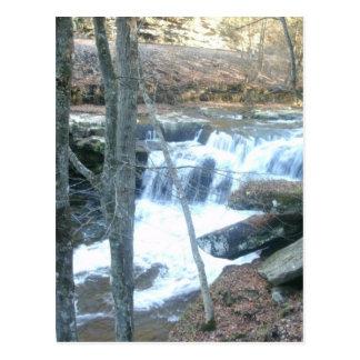 Slumpmässig vattenfall vykort