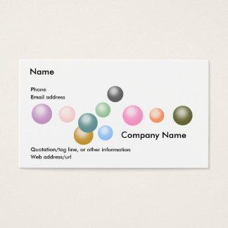 Slumpmässiga diagram:  Pärlor Visitkort