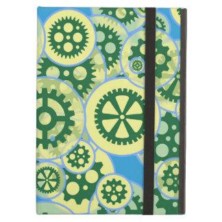 Slumpmässiga gröna kugghjul iPad air fodral