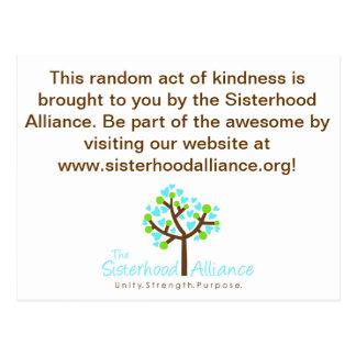 Slumpmässigt agera av vänlighet projekterar vykort
