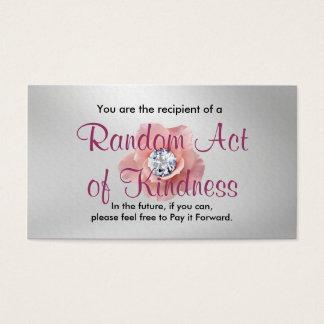 Slumpmässigt agera av vänlighetkort visitkort