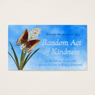 Slumpmässigt agerar av vänlighetkort visitkort