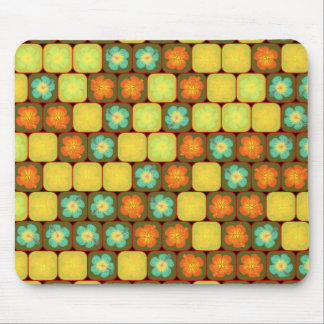 Slumpmässigt hibiskusmönster mus mattor