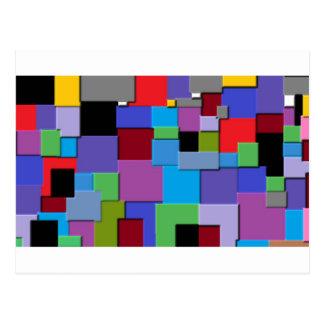 Slumpmässigt kvadrerar vykort