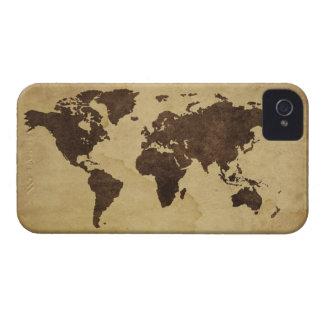 Slut upp av antik världskarta 3 iPhone 4 Case-Mate case