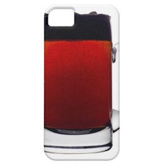 Slut upp av ett exponeringsglas av öl iPhone 5 fodral