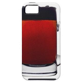 Slut upp av ett exponeringsglas av öl tough iPhone 5 fodral