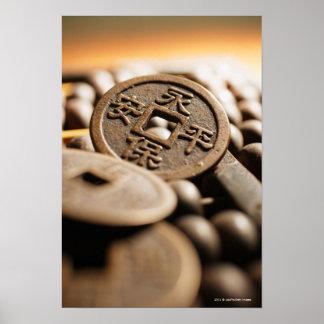 Slutet av kinesen myntar upp poster