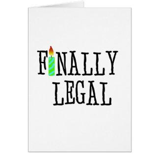 Slutligen lagligt hälsningskort