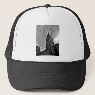 Slutligt torn i svartvitt truckerkeps