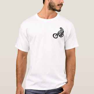 Sluttande mountainbikeryttare tröjor