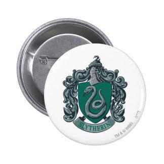 Slytherin vapensköldgrönt knapp med nål