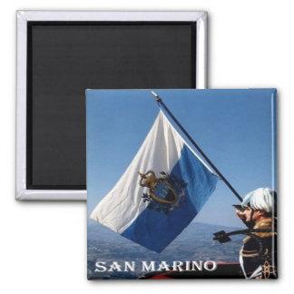 SM - San Marino - flagga San Marinese Magnet
