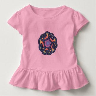 Småbarn kedjar rosa Celtic daisy fnurraskjortan Tee