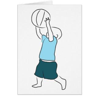 Småbarn med basket OBS kort