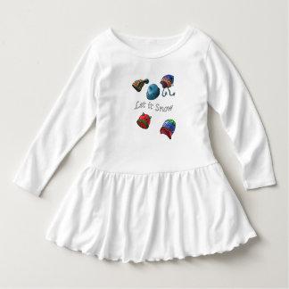 Småbarn rufsar klänningen, låt det snöa t-shirt