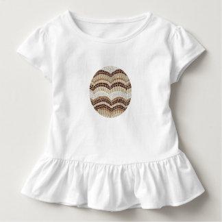 Småbarn rufsar T-tröja med den beige mosaiken T Shirt