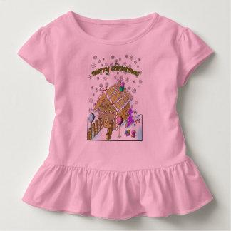 Småbarn rufsar utslagsplatsen, god jul tee shirt