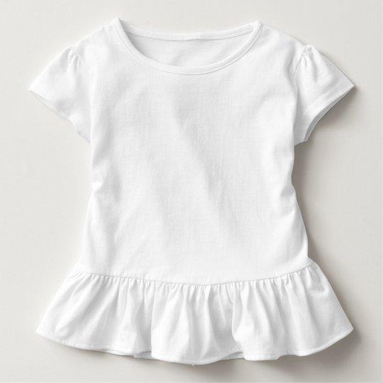 Småbarn Volang T-shirt, Vit