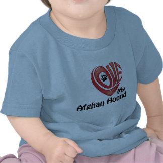 Småbarn skjorta: Älska min afghanska hund Tröjor