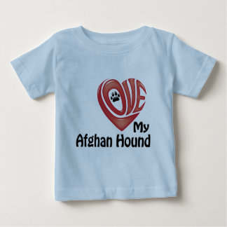 Småbarn skjorta: Älska min afghanska hund Tee Shirts