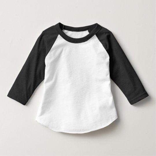 Småbarn American Apparel 3/4 Ärm Raglan T-Shirt, Svart