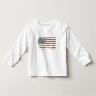 Småbarnlångärmadutslagsplats med den bekymrade USA Tee Shirts