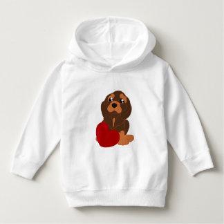 SmåbarnPulloverHoodie med hundmönster T Shirt