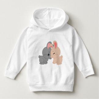 SmåbarnPulloverHoodie med kaninmönster Tshirts