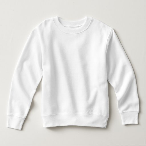 Småbarn Fleece Sweatshirt, Vit