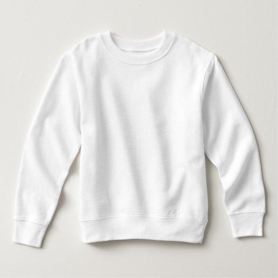 Småbarn Fleece Sweatshirt, Vit