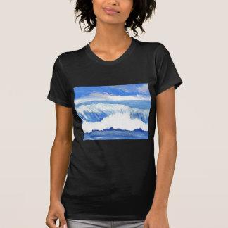 Smak av havet - vinkar sjölandskap för blåtthav tröja