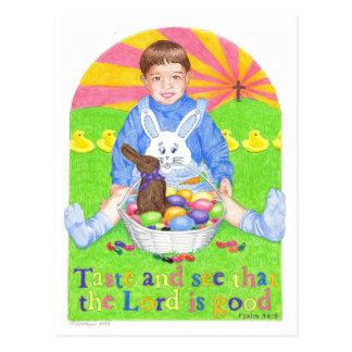 Smaka och se den inspirera vykortet för påsken vykort