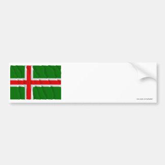 Småland som vinkar (den inofficiella) flagga, bildekal
