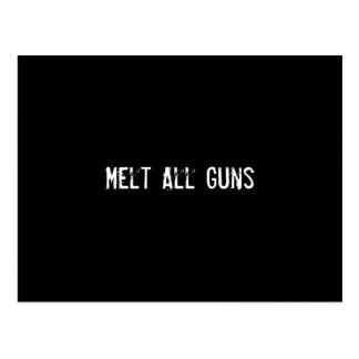 Smält alla vapen vykort