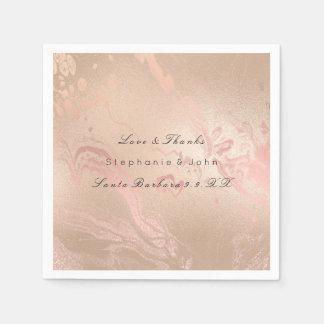 Smält rosa guld- krämigt pappersservett