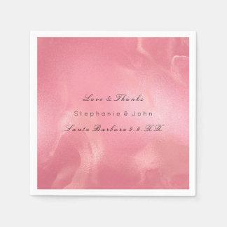 Smälta rosa rosor för exponeringsglas för pappersservett