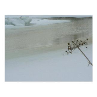 Smälter is på vatten vykort