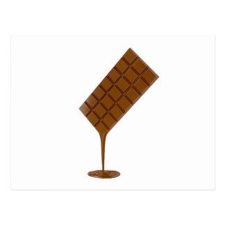 Smältt chokladpub vykort