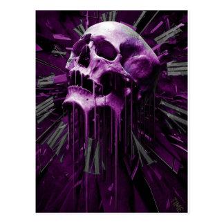 Smältt purpurfärgad skalle vykort