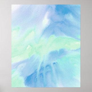 Smältt vattenfärgaffisch för akryl 2 poster