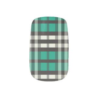 Smaragd för slyna för plädTartanmönster) Klistermärken För Naglar