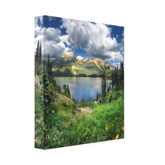 Smaragd sjö 4 - den Weminuche vildmarken - Canvastryck